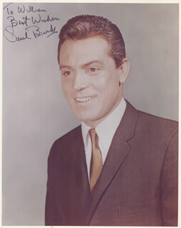 PAUL BURKE - AUTOGRAPHED INSCRIBED PHOTOGRAPH