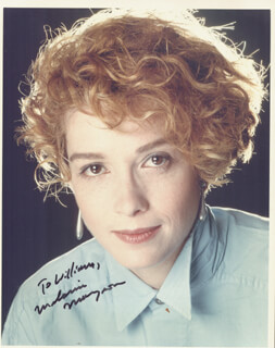 MELANIE MAYRON - AUTOGRAPHED INSCRIBED PHOTOGRAPH
