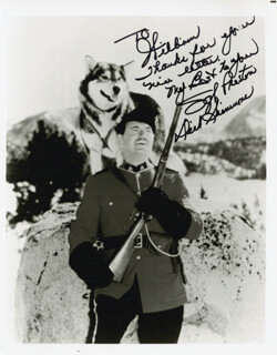DICK SIMMONS - AUTOGRAPHED INSCRIBED PHOTOGRAPH