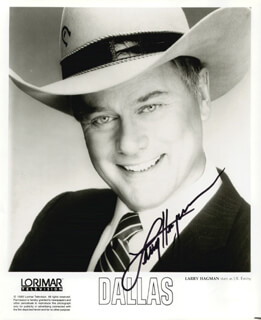 LARRY HAGMAN - AUTOGRAPHED SIGNED PHOTOGRAPH