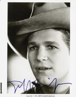 JEFF BRIDGES - PRINTED PHOTOGRAPH SIGNED IN INK
