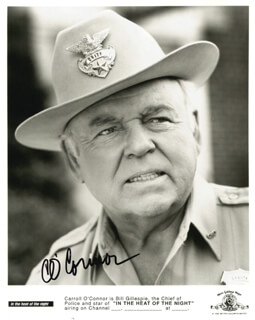 CARROLL O'CONNOR - AUTOGRAPHED SIGNED PHOTOGRAPH