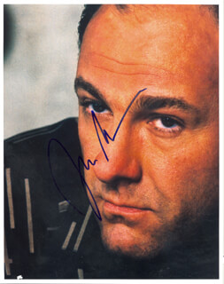JAMES GANDOLFINI - AUTOGRAPHED SIGNED PHOTOGRAPH