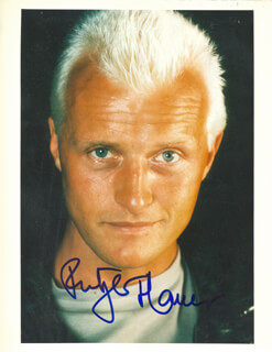 RUTGER HAUER - AUTOGRAPHED SIGNED PHOTOGRAPH