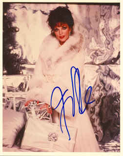 JOAN COLLINS - AUTOGRAPHED SIGNED PHOTOGRAPH