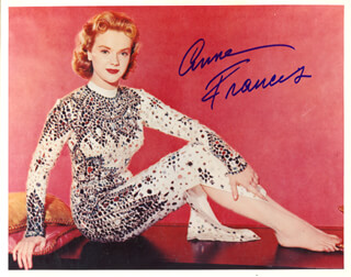 ANNE FRANCIS - AUTOGRAPHED SIGNED PHOTOGRAPH