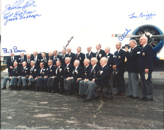 DOOLITTLE RAIDERS - AUTOGRAPHED SIGNED PHOTOGRAPH CO-SIGNED BY: JACOB DE SHAZER, EDWIN W. HORTON JR., COLONEL WILLIAM M. BILL BOWER, COLONEL RICHARD E. COLE, MAJOR THOMAS C. GRIFFIN, CAPTAIN CHARLES L. MCCLURE, JOHN DOOLITTLE