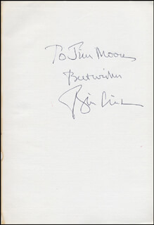 PRESIDENT WILLIAM J. BILL CLINTON - INSCRIBED BOOK SIGNED CIRCA 1993