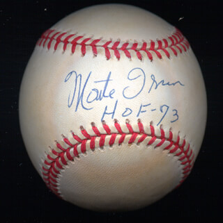 MONTE IRVIN - AUTOGRAPHED SIGNED BASEBALL