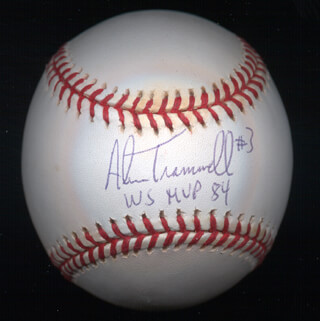 ALAN TRAMMELL - AUTOGRAPHED SIGNED BASEBALL
