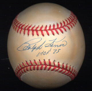 RALPH KINER - AUTOGRAPHED SIGNED BASEBALL