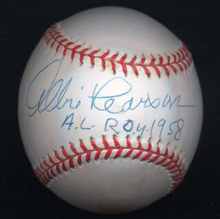 Autographs: ALBIE PEARSON - BASEBALL SIGNED