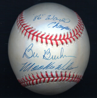 BILL BILLY BUCKS BUCKNER - AUTOGRAPHED SIGNED BASEBALL CO-SIGNED BY: MOOKIE WILSON