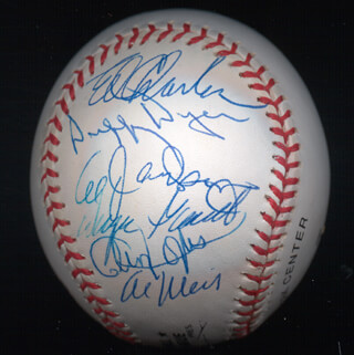 THE 1969 NEW YORK METS - AUTOGRAPHED SIGNED BASEBALL CO-SIGNED BY: AL WEIS, CLEON JONES, ALVIN LITTLE AL JACKSON, ED CHARLES, DUFFY DYER, ED KRANEPOOL, WAYNE GARRETT