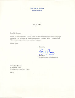 KARL ROVE - TYPED LETTER SIGNED