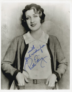 RUTH ETTING - AUTOGRAPHED SIGNED PHOTOGRAPH
