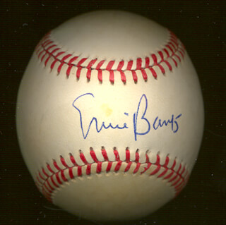ERNIE MR. CUB BANKS - AUTOGRAPHED SIGNED BASEBALL