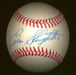 ENOS SLAUGHTER - AUTOGRAPHED SIGNED BASEBALL