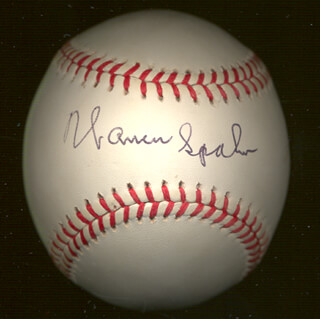 WARREN SPAHN - AUTOGRAPHED SIGNED BASEBALL