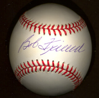 BOB WARRIOR FRIEND - AUTOGRAPHED SIGNED BASEBALL