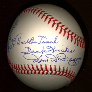 DOM DIMAGGIO - INSCRIBED BASEBALL SIGNED