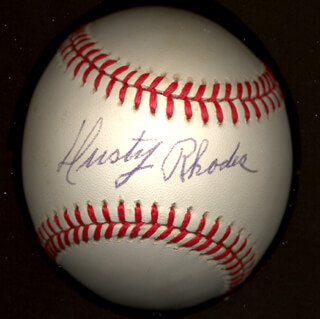 DUSTY (JAMES) RHODES - AUTOGRAPHED SIGNED BASEBALL