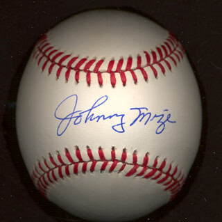 JOHNNY MIZE - AUTOGRAPHED SIGNED BASEBALL