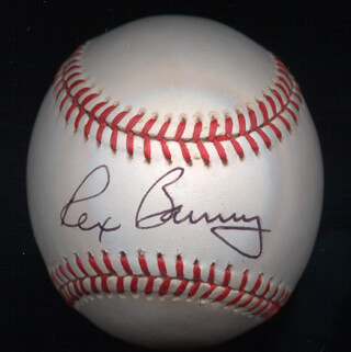 REX BARNEY - AUTOGRAPHED SIGNED BASEBALL