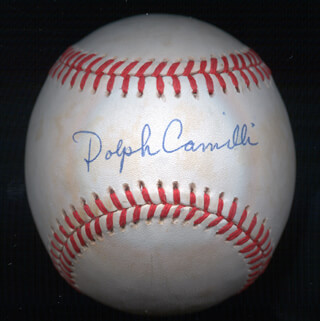 DOLPH CAMILLI - AUTOGRAPHED SIGNED BASEBALL