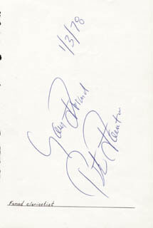 PETE FOUNTAIN - AUTOGRAPH SENTIMENT SIGNED 01/03/1978