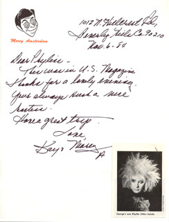 KAY PATRICK AMSTERDAM - AUTOGRAPH LETTER SIGNED 11/06/1984