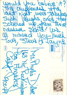JAYNE MEADOWS - AUTOGRAPH NOTE SIGNED 11/1981