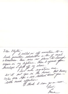 ERMA BOMBECK - AUTOGRAPH LETTER SIGNED