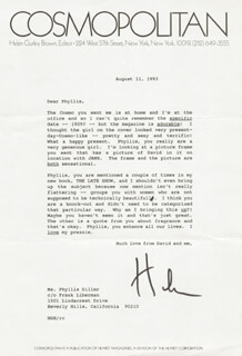 HELEN GURLEY BROWN - TYPED LETTER SIGNED 08/11/1993