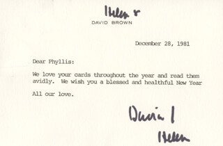 DAVID BROWN - TYPED LETTER SIGNED 12/28/1981