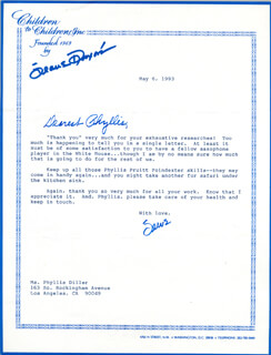 JEANE DIXON - TYPED LETTER SIGNED 05/06/1993