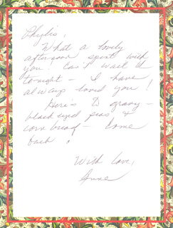 JUNE HAVER - AUTOGRAPH LETTER SIGNED