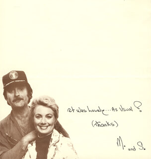 MARTY INGELS - AUTOGRAPH NOTE SIGNED CIRCA 1981