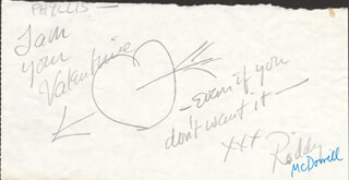 RODDY McDOWALL - AUTOGRAPH NOTE SIGNED