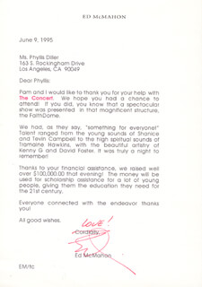 ED McMAHON - TYPED LETTER SIGNED 06/09/1995