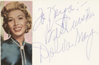 DOLORES GRAY - AUTOGRAPH NOTE SIGNED