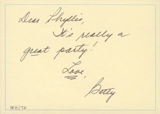 BETTY WHITE - AUTOGRAPH LETTER SIGNED