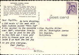 LILLIAN GISH - TYPED LETTER SIGNED CIRCA 1981