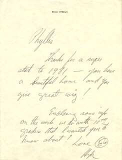 HUGH O'BRIAN - AUTOGRAPH LETTER SIGNED