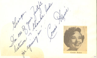 CONNIE HAINES - AUTOGRAPH NOTE SIGNED