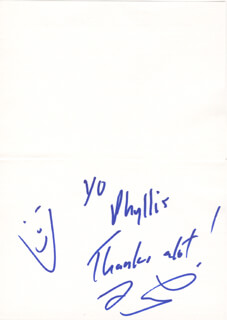 JAY LENO - AUTOGRAPH NOTE SIGNED CIRCA 1994