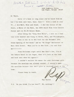 RIP TAYLOR - TYPED LETTER SIGNED CO-SIGNED BY: PHYLLIS DILLER