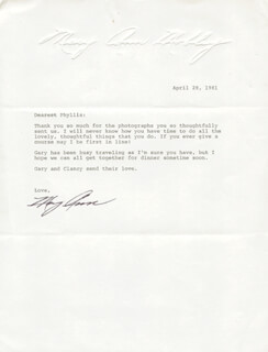 MARY ANN MOBLEY - TYPED LETTER SIGNED 04/28/1981