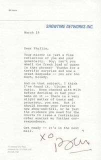 BILL HARRIS - TYPED LETTER SIGNED