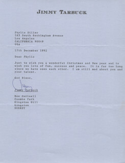 JIMMY TARBUCK - TYPED LETTER SIGNED 12/17/1992